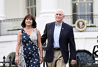United States Vice President Mike Pence and Karen Pence arrive at the Congressional Picnic on the South Lawn  of the White House in Washington, DC, on June 22, 2017. <br /> Credit: Olivier Douliery - Pool via CNP /MediaPunch
