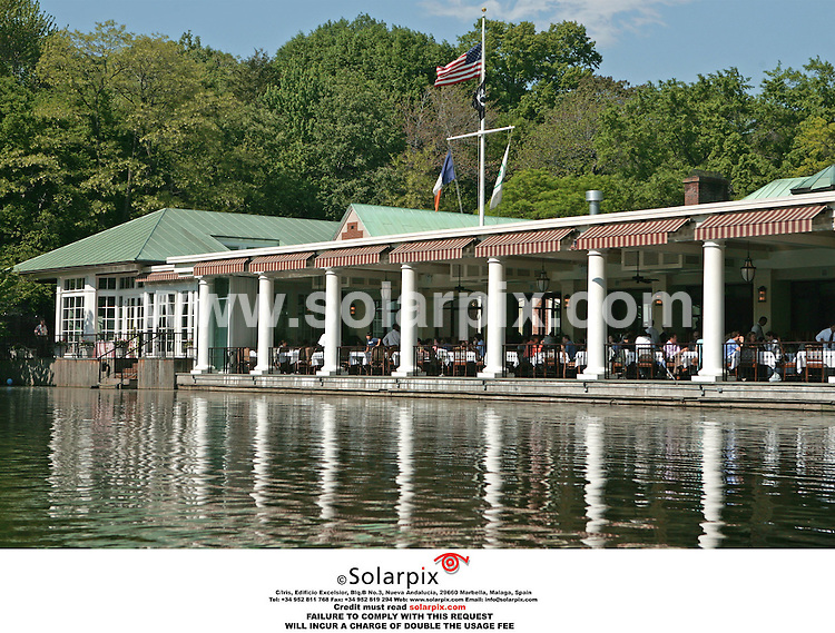 ALL ROUND PICTURES FROM SOLARPIX.COM.*MUST CREDIT SOLARPIX.COM OR DOUBLE FEE WILL BE CHARGED*.The Swedish Royals visit Central park in New York yesterday with the princess Madeleine with her new boyfriend Jonas Bergstrom they had lunch with the king Carl Gustaf and Queen Silvia at the famous Boat house on the lake of Central Park..This pic:THE BOAT HOUSE RESTUANTE CENTRAL PARK.DATE:19.05.06-DNA