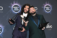 24 November 2019 - Los Angeles, California - Dan + Shay. 2019 American Music Awards - Press Room held at Microsoft Theater. Photo Credit: Birdie Thompson/AdMedia