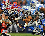 28 August 2008:  The Buffalo Bills offense meets the Detroit Lions defense at the line of scrimmage during a game at Ralph Wilson Stadium in Orchard Park, NY. The Lions defeated the Bills 14-6 in their fourth and final pre-season game...Mandatory Photo Credit: Ed Wolfstein Photo