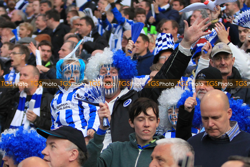 Brighton & Hove Albion fans pre match - Brighton & Hove Albion vs Crystal Palace - NPower Championship Play-Off Semi-Final 1st Leg at the Amex Stadium - 13/05/13 - MANDATORY CREDIT: Simon Roe/TGSPHOTO - Self billing applies where appropriate - 0845 094 6026 - contact@tgsphoto.co.uk - NO UNPAID USE