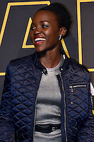 Actress Lupita Nyong'o, (L), actor Oscar Isaac, (C), and producer Kathleen Kennedy pose together for photographers at a fan event to promote Star Wars: The Force Awakens, at Antara Fashion Mall in Mexico City, Tuesday, Dec. 8, 2015. Photo: ©Francisco Morales/DAMMPHOTO/NortePhoto