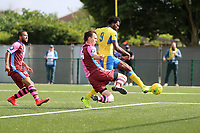 Chidubem Onokwai scores the opening goal during Haringey Borough vs Corinthian Casuals, BetVictor League Premier Division Football at Coles Park Stadium on 10th August 2019