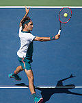 Roger Federer (SUI) defeats Phillipp Kohlschreiber (GER) 6-3, 6-4, 6-4 at the US Open in Flushing, NY on September 5, 2015.