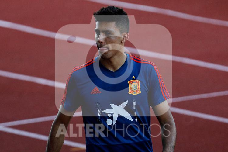 Rodri during the Trainee Session at Ciudad del Futbol in Las Rozas, Spain. September 02, 2019. (ALTERPHOTOS/A. Perez Meca)
