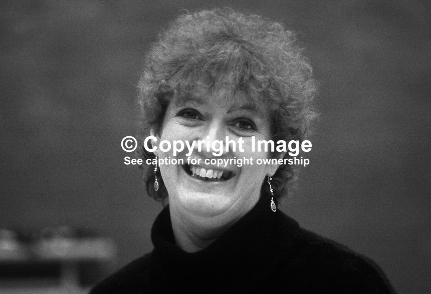 Inez McCormack, N Ireland official, NUPE, National Union of Public Employees, 19840050IMC..Copyright Image from Victor Patterson, 54 Dorchester Park, Belfast, UK, BT9 6RJ..Tel: +44 28 9066 1296.Mob: +44 7802 353836.Voicemail +44 20 8816 7153.Skype: victorpattersonbelfast.Email: victorpatterson@me.com.Email: victorpatterson@ireland.com (back-up)..IMPORTANT: If you wish to use this image or any other of my images please go to www.victorpatterson.com and click on the Terms & Conditions. Then contact me by email or phone with the reference number(s) of the image(s) concerned.