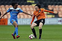Melissa Johnson of Sheffield FC Ladies and Danielle Lea of London Bees during London Bees vs Sheffield FC Ladies, FA Women's Super League FA WSL2 Football at the Hive Stadium on 12th May 2018