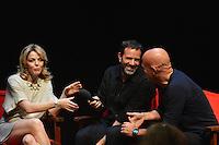 Claudia Gerini, Fausto Brizzi, Claudio Bisio .Firenze 06/04/2013 Teatro del Sale.Rai Screenings 2013 Convegno Rai Cinema.Foto Andrea Staccioli Insidefoto