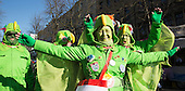 Düsseldorf, Germany. 15 February 2015. Street carnival celebrations take place on Königsallee (Kö) in Düsseldorf ahead of the traditional Shrove Monday parade (Rosenmontagszug).