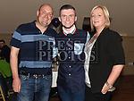 Killian Shevlin celebrating his 18th birthday in The Thatch with godparents Martin Shevlin and Elaine Kirwan. Photo:Colin Bell/pressphotos.ie