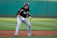 Kevin Plawecki (26) of the Purdue Boilermakers leads off second base during a game against the Missouri State Bears at Hammons Field on March 13, 2012 in Springfield, Missouri. (David Welker / Four Seam Images)
