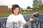 ON THE RUN:  Breda Barrett from Ballydesmond who is running in the Dublin City Marathon to rise funds for the Accident and Emergency Department at Kerry General Hospital..   Copyright Kerry's Eye 2008