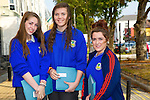 Amber O'Donoghue, Roisin Casey, Bridget Roche, Castleisland Community College at the Kerry ETB  Education, Training and Opportunities fair  at the Brandon Hotel on Thursday