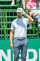 Erik Van Rooyen (RSA) on the 1st tee during the first round at the Nedbank Golf Challenge hosted by Gary Player,  Gary Player country Club, Sun City, Rustenburg, South Africa. 14/11/2019 <br /> Picture: Golffile | Tyrone Winfield<br /> <br /> <br /> All photo usage must carry mandatory copyright credit (© Golffile | Tyrone Winfield)