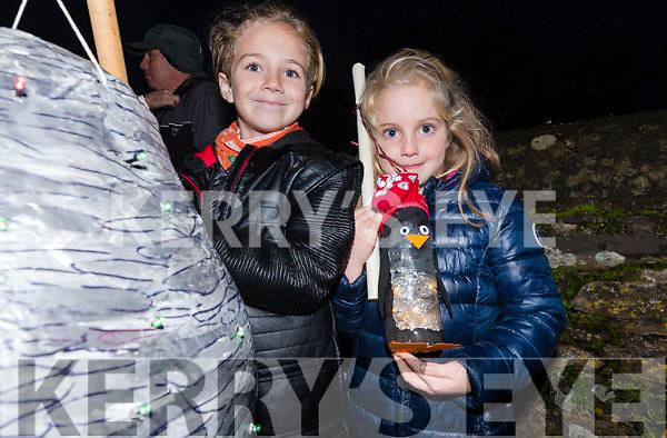 Jesse McCarthy and Jess Murphy (Ventry) enjoying Féile na Soilse in Dingle on Sunday evening.