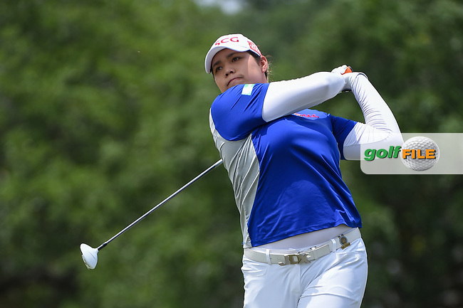 Ariya Jutanugarn (THA) watches her tee shot on 2 during round 2 of the 2019 US Women's Open, Charleston Country Club, Charleston, South Carolina,  USA. 5/31/2019.<br /> Picture: Golffile   Ken Murray<br /> <br /> All photo usage must carry mandatory copyright credit (© Golffile   Ken Murray)