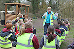Welsh Water - National Science Week 2012..Welsh Water teacher Deborah Jones with pupils Dylan Evans & Amber Smallman from Abercerdin Primary School. ..10.03.12.©STEVE POPE