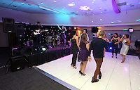 Pictured: Dancers on the floor and live music on stage<br />