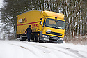 29/01/15<br /> <br /> An articulated slides off the road, near Hartington in the Derbyshire Peak District.<br /> <br /> All Rights Reserved - F Stop Press.  www.fstoppress.com. Tel: +44 (0)1335 418629 +44(0)7765 242650