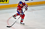 18 December 2008: Montreal Canadiens' defenseman Mike Komisarek in action against the Philadelphia Flyers at the Bell Centre in Montreal, Quebec, Canada. The Canadiens, trying to avoid a four-game slide, defeated the Flyers 5-2, thus ending Philadelphia's 5-game winning streak. ***** Editorial Sales Only ***** Mandatory Photo Credit: Ed Wolfstein Photo