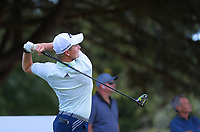 Nick Voke tees off on the 17th. Day two of the Jennian Homes Charles Tour / Brian Green Property Group New Zealand Super 6s at Manawatu Golf Club in Palmerston North, New Zealand on Friday, 6 March 2020. Photo: Dave Lintott / lintottphoto.co.nz