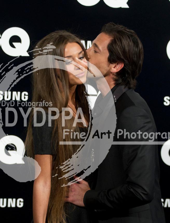 19/11/2012. Palace Hotel. Madrid. Spain. GQ Men Of The Year Award 2012. Adrien Brody and Lara Nieto. (C) Belen Diaz / DyD Fotografos
