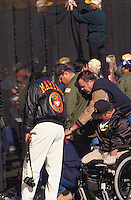 Vietnam Veterans grieving for lost comrades at the Vietnam Memorial on the Mall at Washington, DC. Washington District of Columbia USA the Mall.