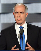 United States Senator Bob Casey (Democrat of Pennsylvania) makes remarks at the 2016 Democratic National Convention at the Wells Fargo Center in Philadelphia, Pennsylvania on Monday, July 25, 2016.<br /> Credit: Ron Sachs / CNP<br /> (RESTRICTION: NO New York or New Jersey Newspapers or newspapers within a 75 mile radius of New York City)