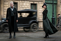 Fantastic Beasts: The Crimes of Grindelwald (2018) <br /> JOHNNY DEPP as Gellert Grinderwald and POPPY CORBY-TUECH as Vinda Rosier<br /> *Filmstill - Editorial Use Only*<br /> CAP/KFS<br /> Image supplied by Capital Pictures