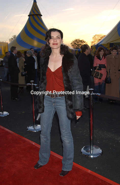 .JULIANA MARGULIES                                   . AT THE OPENING OF CIRQUE DU SOLEIL VAREKAI ON RANDALL'S ISLAND ON APRIL 24,2003..PHOTO BY ROBIN PLATZER, TWIN IMAGES