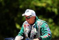 Jul. 18, 2010; Sonoma, CA, USA; NHRA funny car driver John Force during the Fram Autolite Nationals at Infineon Raceway. Mandatory Credit: Mark J. Rebilas-