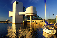 hall of fame, rock 'n roll, Cleveland, OH, Ohio, Rock and Roll Hall of Fame and Museum on the waterfront of North Coast Harbor.