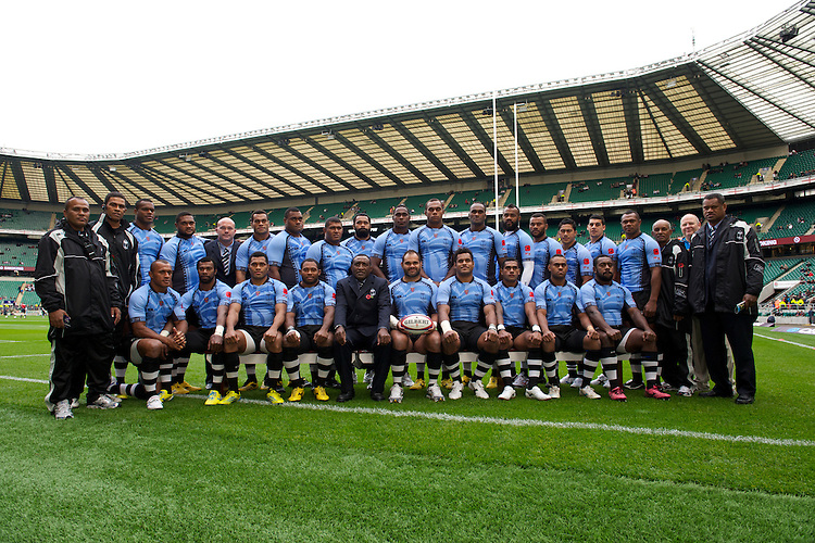The Flying Fijians before the QBE International between England and Fiji at Twickenham on Saturday 10th November 2012 (Photo by Rob Munro)