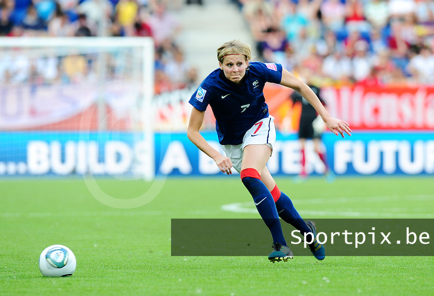 Fifa Women's World Cup Germany 2011 : Zweden - France Frankrijk at Sinsheim World Cup stadium : Corine Franco.foto DAVID CATRY / Vrouwenteam.be
