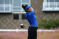 CHAPEL HILL, NC - OCTOBER 13: Gina Kim of Duke University tees off at UNC Finley Golf Course on October 13, 2019 in Chapel Hill, North Carolina.