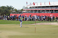 Bernd Wiesberger (AUT) on the 9th green during Round 4 of the Abu Dhabi HSBC Championship at the Abu Dhabi Golf Club, Abu Dhabi, United Arab Emirates. 19/01/2020<br /> Picture: Golffile | Thos Caffrey<br /> <br /> <br /> All photo usage must carry mandatory copyright credit (© Golffile | Thos Caffrey)