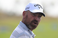 Thomas Bjorn (DEN) on the range during Tuesday's Pro-Am Day of the 2014 BMW Masters held at Lake Malaren, Shanghai, China 28th October 2014.<br /> Picture: Eoin Clarke www.golffile.ie