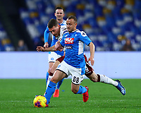 29th February 2020; Stadio San Paolo, Naples, Campania, Italy; Serie A Football, Napoli versus Torino; Stanislav Lobotka of Napoli breaks away from Andrea Belotti of Torino FC
