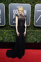 Nominated for BEST PERFORMANCE BY AN ACTRESS IN A LIMITED SERIES OR A MOTION PICTURE MADE FOR TELEVISION for her role in &quot;Big Little Lies,&quot; actress Nicole Kidman arrives at the 75th Annual Golden Globe Awards at the Beverly Hilton in Beverly Hills, CA on Sunday, January 7, 2018.<br /> *Editorial Use Only*<br /> CAP/PLF/HFPA<br /> &copy;HFPA/PLF/Capital Pictures