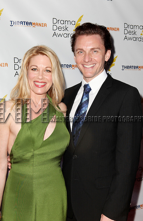 Marin Mazzie and Jason Danieley pictured at the 57th Annual Drama Desk Awards held at the The Town Hall in New York City, NY on June 3, 2012. © Walter McBride