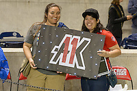Chicago, IL - Saturday Sept. 24, 2016: Washington Spirit fans after a regular season National Women's Soccer League (NWSL) match between the Chicago Red Stars and the Washington Spirit at Toyota Park.