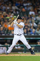 John Hicks (55) of the Detroit Tigers at bat against the Chicago White Sox at Comerica Park on June 2, 2017 in Detroit, Michigan.  The Tigers defeated the White Sox 15-5.  (Brian Westerholt/Four Seam Images)