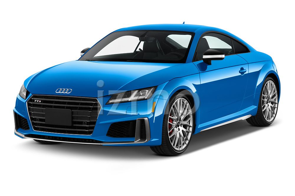 2019 Audi TTS-Coupe Base 3 Door Coupe angular front stock photos of front three quarter view