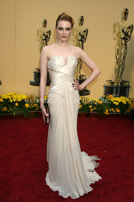 WWW.ACEPIXS.COM . . . . .  ....February 22, 2009. Hollywood, CA....Actor Rachel Evan Wood arrives at the 81st Annual Academy Awards held at the Kodak Theater on February 22, 2009 in Hollywood, CA.......Please byline: Z09- ACEPIXS.COM.... *** ***..Ace Pictures, Inc:  ..Philip Vaughan (646) 769 0430..e-mail: info@acepixs.com..web: http://www.acepixs.com