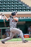 Chris Herrmann (7) of the Ft. Myers Miracle during a game vs. the Lakeland Flying Tigers June 6 2010 at Joker Marchant Stadium in Lakeland, Florida. Ft. Myers won the game against Lakeland by the score of 2-0.  Photo By Scott Jontes/Four Seam Images