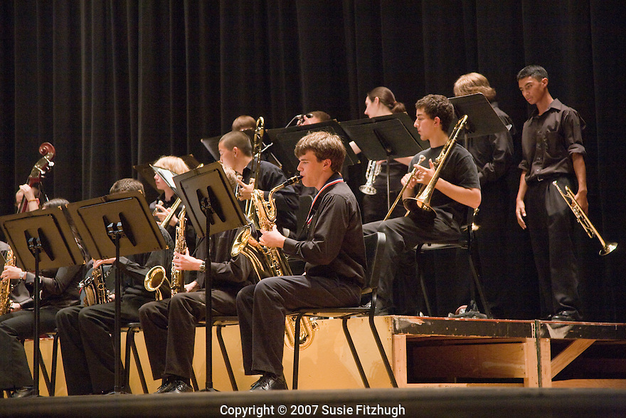 The school's Big Band performs at Chief Sealth HS.