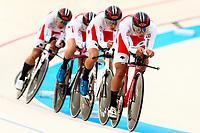 Picture by Alex Whitehead/SWpix.com - 10/12/2017 - Cycling - UCI Track Cycling World Cup Santiago - Velódromo de Peñalolén, Santiago, Chile - Japan's Shunsuke Imamura, Ryo Chikatani, Shogo Ichimaru and Keitaro Sawada compete in the Men's Team Pursuit first round.