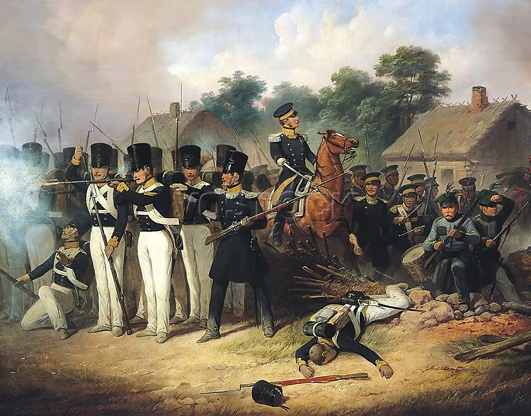 Polish Revolution of 1830 (November Uprising). Painting by January Suchodolski (1797-1875). Poland - 19th century.