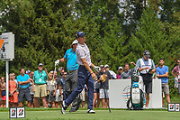 Justin Thomas (USA) watches his tee shot on 4 during 1st round of the World Golf Championships - Bridgestone Invitational, at the Firestone Country Club, Akron, Ohio. 8/2/2018.<br /> Picture: Golffile | Ken Murray<br /> <br /> <br /> All photo usage must carry mandatory copyright credit (© Golffile | Ken Murray)