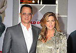 "HOLLYWOOD, CA. - November 09: Tom Hanks and Rita Wilson arrive at the ""Old Dogs"" Premiere at the El Capitan Theatre on November 9, 2009 in Hollywood, California."